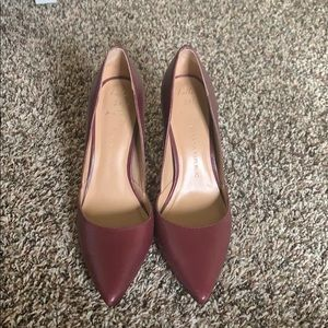 Burgundy Banana Republic Pumps